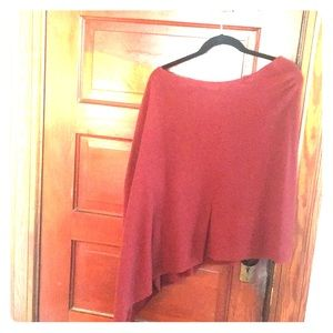 MINNIE ROSE 100% CASHMERE ASYMMETRICAL Sweater